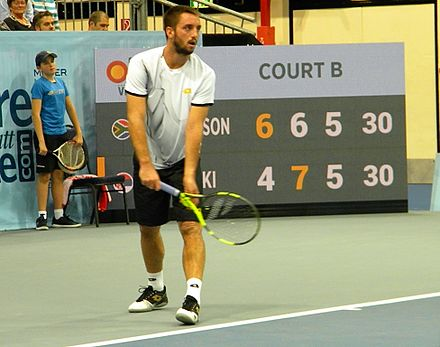 Viktor Troicki at 2016 Erste Bank Open Viktor Troicki (Serbia) against Kevin Anderson (South Africa), 2016 Erste Bank Open (2).jpg