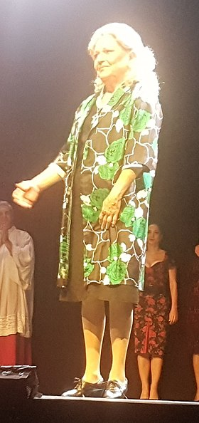 Vilma Tsakiri 2017 as Rozalia in Filoumena 1.jpg