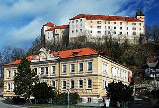 Vimperk Town in South Bohemian, Czech Republic