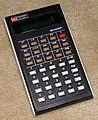 Vintage Sharp Electronic Pocket Elsi Mate Calculator, Model EL-500, Green Fluorescent, Made In Japan (14181747381).jpg