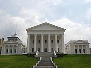 The Virginia State Capitol building, designed by Thomas Jefferson and begun by Governor Patrick Henry in 1785, recently underwent massive renovations.