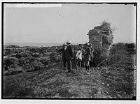 Visiting ruins of Ascalon. Sir Herbert Samuel viewing the ruins. LOC matpc.02299.jpg