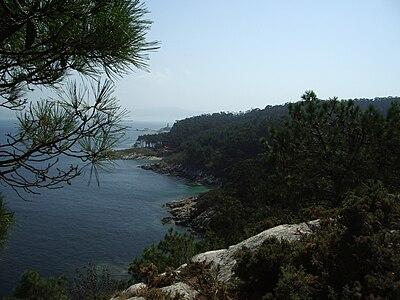 Vista paisajística de costa y vegetación en las Isla Cíes (Galicia).jpg