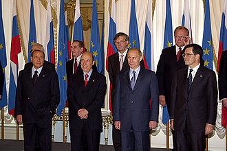 Tassos Papadopoulos - Photo session of participants in Russia - EU Summit