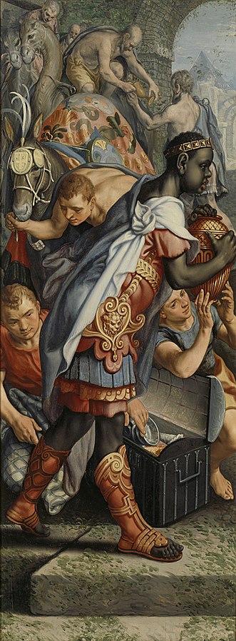 Volet gauche d'un triptyque avec l'Adoration des Mages