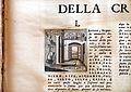 Vocabolario degli accademici della crusca, IV edizione, 1729-38, 03 iniziale L con motto di gabellato con sacco di farina su stadera.jpg