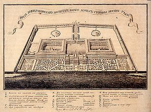 Ivan Betskoy - Betskoy's plan for the Foundling Home in Moscow.