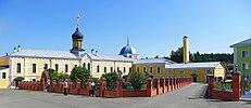 Voznesenskaya Davidova Pustyn - Necropolis, All Saints Church, Northeast tower, Sunday school & Bakery20170813 9363.jpg
