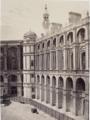Vue du château de Saint-Germain-en-Laye prise pendant la restauration d'Eugène Millet.png