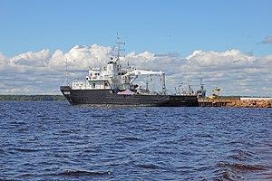 Vyborg June2012 Ship near Petrovsky Beach.jpg