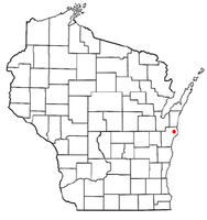 Location of Mishicot, Wisconsin