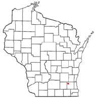 Location of Okauchee Lake, Wisconsin