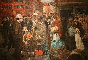 Hester Street (Manhattan) - Street Scene by George Benjamin Luks, 1905 Brooklyn Museum