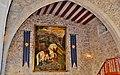 WLM14ES - Sant Jordi presidint la la sala principal del Castell de Sant Martí Sarroca - MARIA ROSA FERRE.jpg