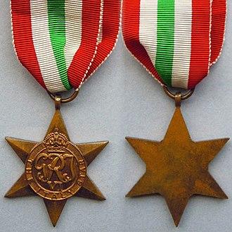 Farley Mowat - Image: WW2 Italy Star