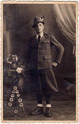 WWII Alpino Della Mora Gelindo in Full Dress Uniform circa 1940