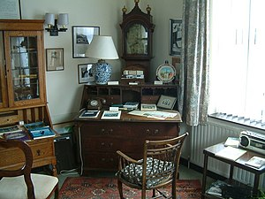 John Betjeman - The John Betjeman Centre Memorabilia Room showing the office from his home in Trebetherick