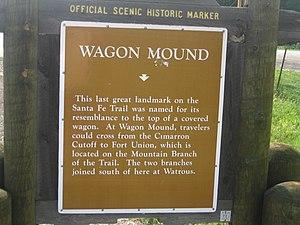 Wagon Mound, New Mexico - Wagon Mound sign