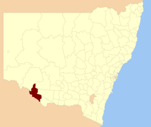 Wakool Shire - Location in New South Wales