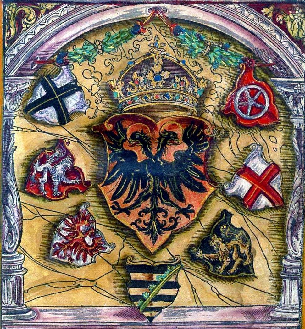 Wapen 1545 Kaiserwappen des Heiligen R%C3%B6mischen Reichs Polychromie