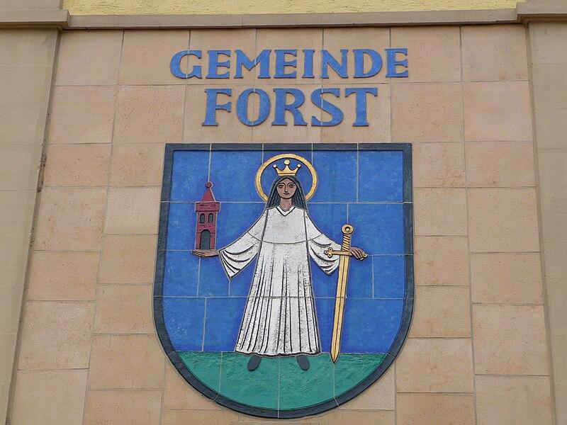 File:Wappen Gemeinde Forst.JPG