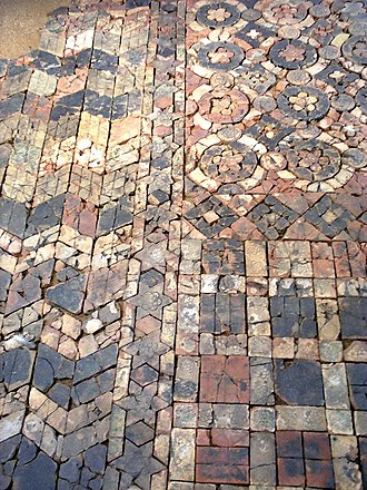 Wardon Abbey - Image: Warden Abbey Tiled Floors