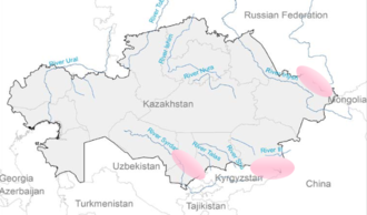 Renewable energy in Kazakhstan - High potential regions for Hydropower plants