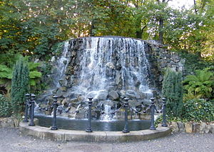 Iveagh Gardens - Image: Waterfall in Iveagh Gardens