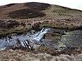 Waterfall on Afon Eiddew over slaty beds - geograph.org.uk - 1754464.jpg