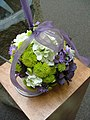 Wedding pomander with mum, hydrangea and aster.jpg