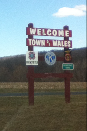 Wales, New York - Image: Welcome To Wales