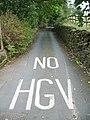 Welcoming sign No HGV - geograph.org.uk - 985401.jpg