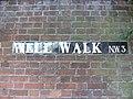 Well Walk street sign, Hampstead, London NW3.jpg