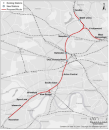 West London Orbital Route Map.png