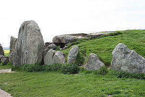 View of the outside of West Kennet Long Barrow