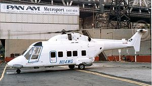 Westland 30 - A Westland 30 of Omni Flight operating for Pan American at New York's East 60th Street Heliport