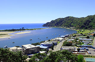 Whakatane Town in Bay of Plenty, New Zealand