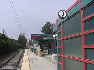 Whisman station - View along platform, September 16, 2012