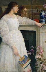 James Abbott McNeill Whistler: Symphony in White, No. 2: The Little White Girl