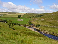 Whitsundale Beck joins River Swale - geograph.org.uk - 519380.jpg