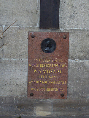 Burial chapel of W.A. MOzart (close-up) outsid...