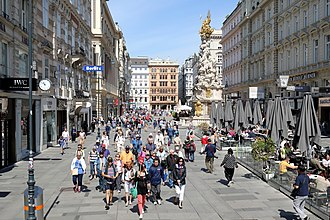 Pedestrian zone - Vienna's first pedestrian zone on the Graben (1971)