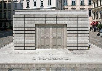 Judenplatz - Front of the Holocaust Memorial