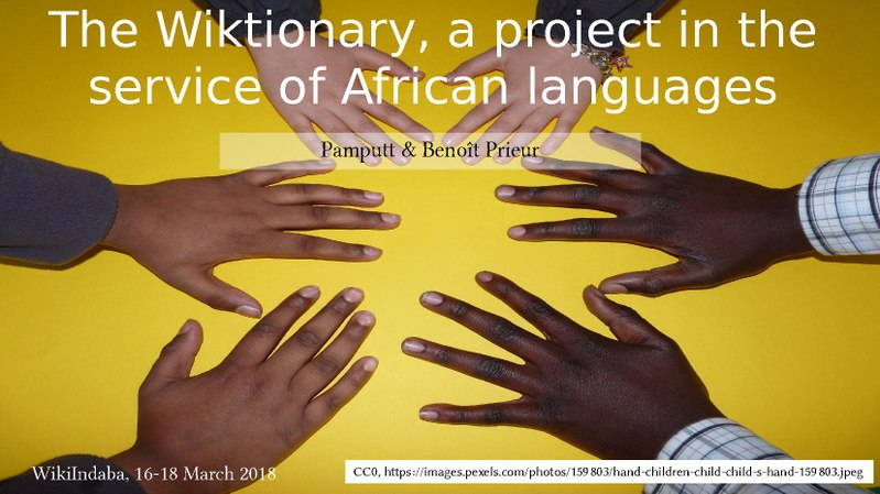 File:Wiki Indaba 2018 - The Wiktionary, a project in the service of African languages.pdf