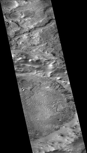 Kuiper (Martian crater) - Kuiper Crater, as seen by CTX camera (on Mars Reconnaissance Orbiter).