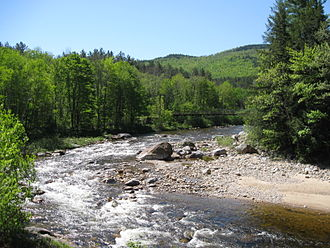 Wild River (Androscoggin River tributary) - The Wild River at Hastings, Maine