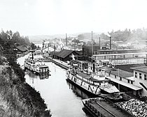 Oregon City and Willamette Falls in 1888
