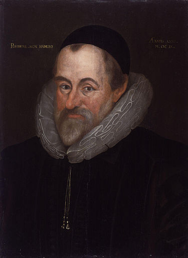 Westminster School master William Camden cultivated the artistic genius of Ben Jonson. William Camden by Marcus Gheeraerts the Younger.jpg