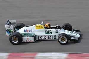 Williams FW08 - A Williams FW08C, pictured in 2010. The sidepods are much reduced in comparison to the earlier FW08.