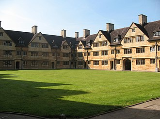 Wills Hall - Inside Old Quad as seen from centre lawn
